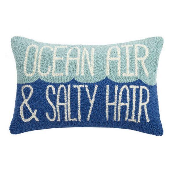 OCEAN AIR AND SALTY HAIR HOOK PILLOW