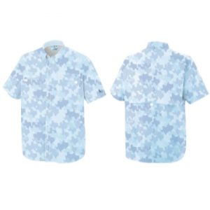 OLD TEJAS BLUE FIELD CAMO SHIRT