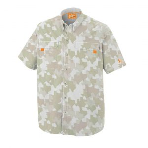 OLD TEJAS BROWN CAMO FISHING SHIRT