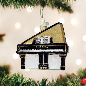 OLD WORLD CHRISTMAS BABY GRAND PIANO ORNAMENT