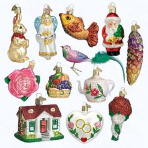 OLD WORLD CHRISTMAS BRIDE'S COLLECTION ORNAMENTS