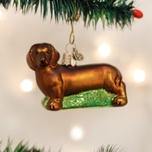 OLD WORLD CHRISTMAS DACHSHUND ORNAMENT