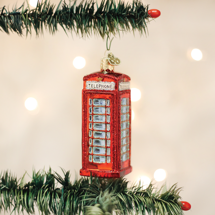 OLD WORLD CHRISTMAS ENGLISH PHONEBOOTH