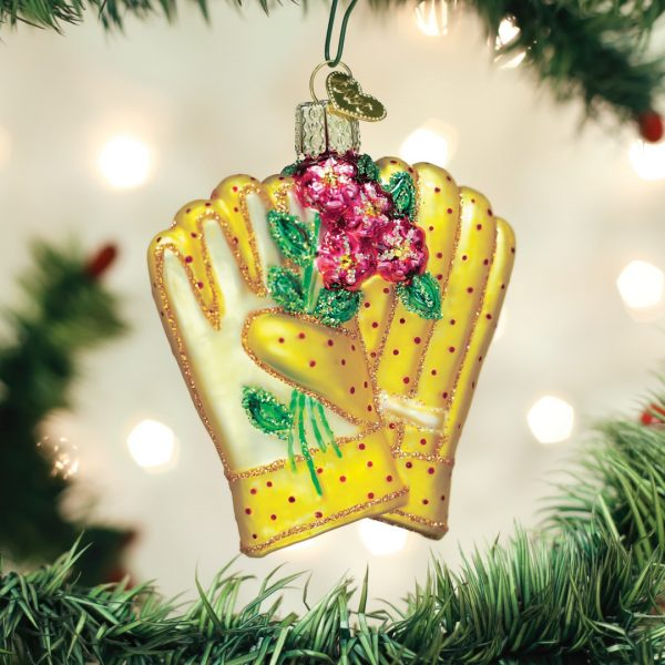 OLD WORLD CHRISTMAS GARDENING GLOVES ORNAMENT
