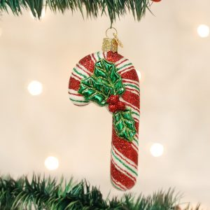 OLD WORLD CHRISTMAS GLISTENING CANDY CANE ORNAMENT