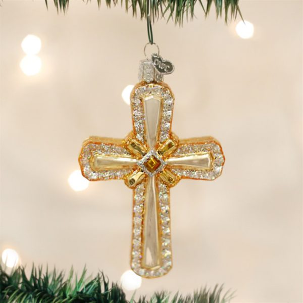 OLD WORLD CHRISTMAS HOLY CROSS ORNAMENT