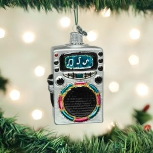 OLD WORLD CHRISTMAS KARAOKE MACHINE ORNAMENT