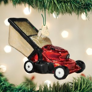 OLD WORLD CHRISTMAS LAWN MOWER ORNAMENT