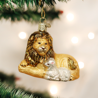 OLD WORLD CHRISTMAS LION AND LAMB