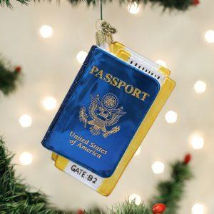 OLD WORLD CHRISTMAS PASSPORT ORNAMENT