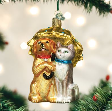 Old World Christmas Raining Cats And Dogs Ornament Magpies Gifts