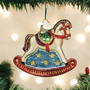 OLD WORLD CHRISTMAS ROCKING HORSE