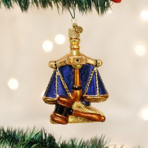 OLD WORLD CHRISTMAS SCALES OF JUSTICE ORNAMENT