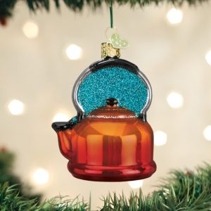 OLD WORLD CHRISTMAS TEA KETTLE ORNAMENT