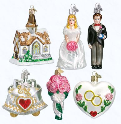 OLD WORLD CHRISTMAS WEDDING COLLECTION ORNAMENTS