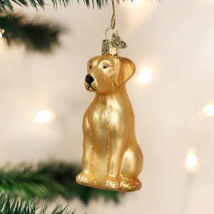 OLD WORLD CHRISTMAS YELLOW LABRADOR ORNAMENT