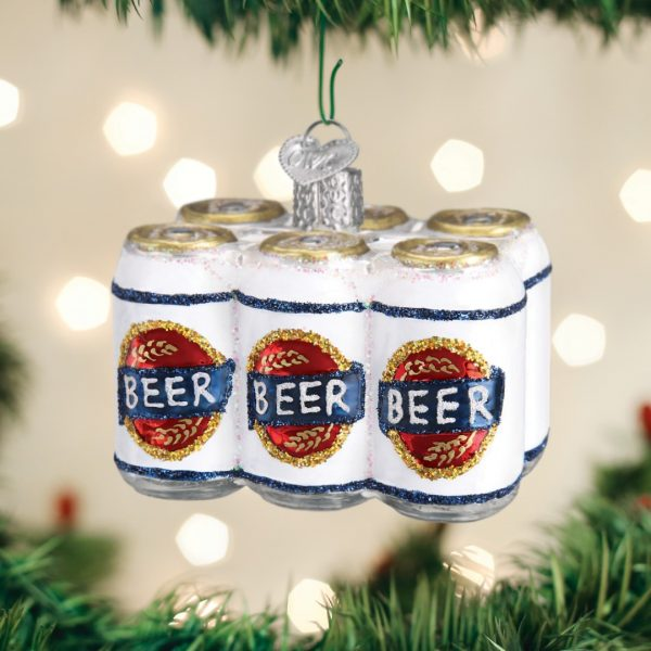 OLD WORLD ORNAMENT SIX PACK OF BEER ORNAMENT