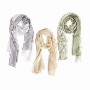 OMBRE FLOWER SHEER SCARF