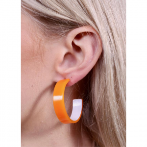 ORA BEACH THICK RESIN HOOPS