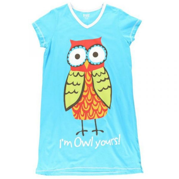 LAZY ONES OWL YOURS NIGHTSHIRT
