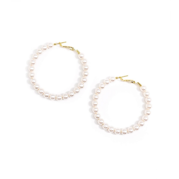 PEARL BEADED HOOPS