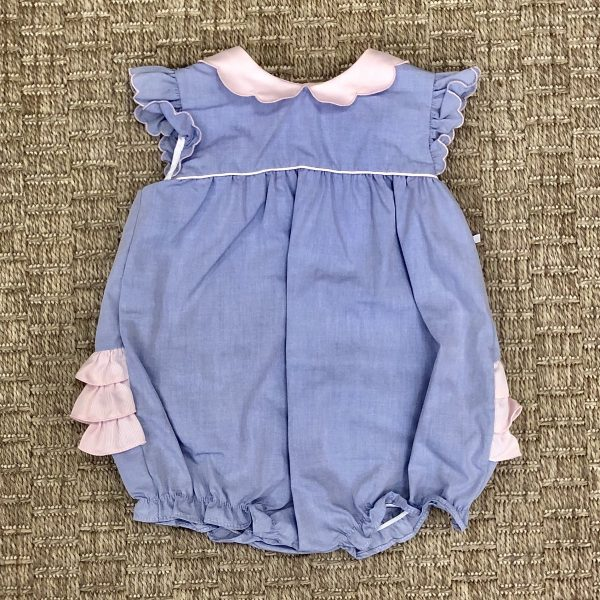 PETIT AMI BLUE BUBBLE WITH PINK RUFFLES