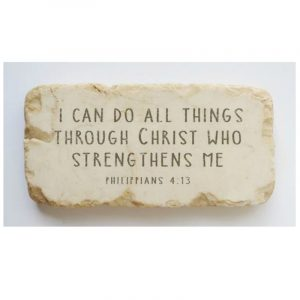 PHILIPPIANS 4:13 HALF AND QUARTER STONE BLOCK
