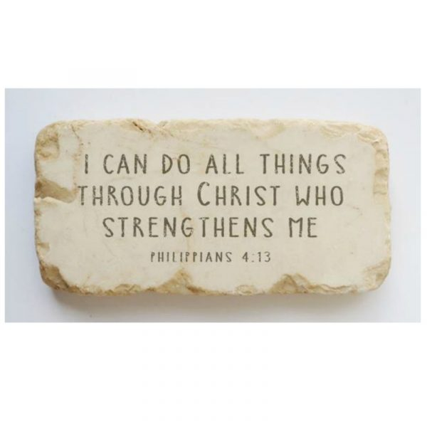 PHILIPPIANS 4:13 HALF STONE BLOCK
