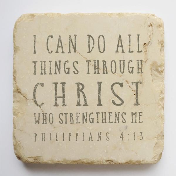 PHILLIPIANS 4:13 SMALL AND LARGE STONE BLOCK