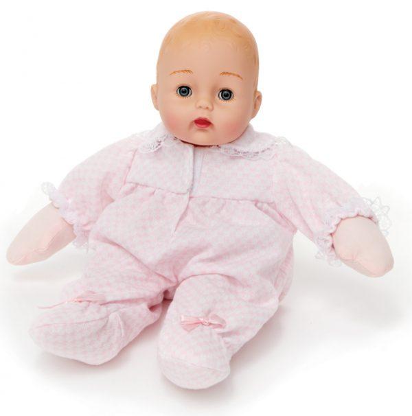 MADAME ALEXANDER PINK CHECK HUGGUMS BABY DOLL