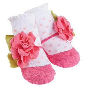 PINK DOT FLOWER SOCKS