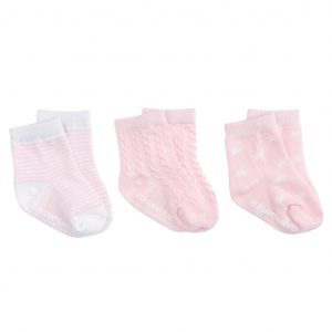 PINK TONAL COTTON BABY SOCKS