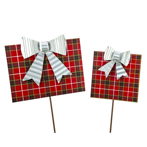 PLAID GIFT BOX STICKS