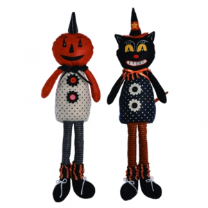 PLUSH HALLOWEEN VINTAGE SHELF SITTERS