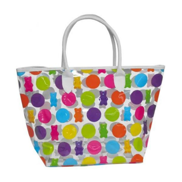 POLKA DOT GUMMY BEAR CLEAR TOTE BAG