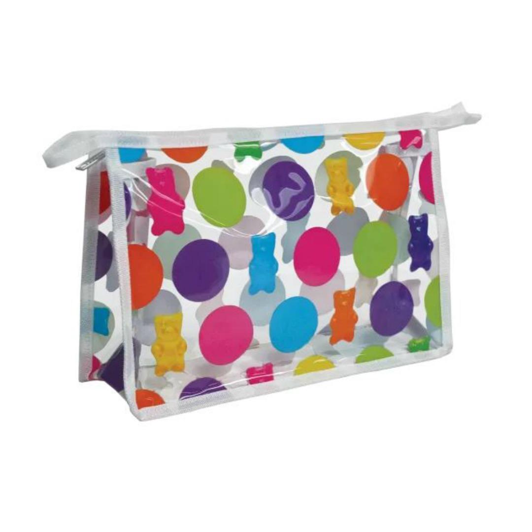 Polka Dot Gummy Bear Clear Travel Bag