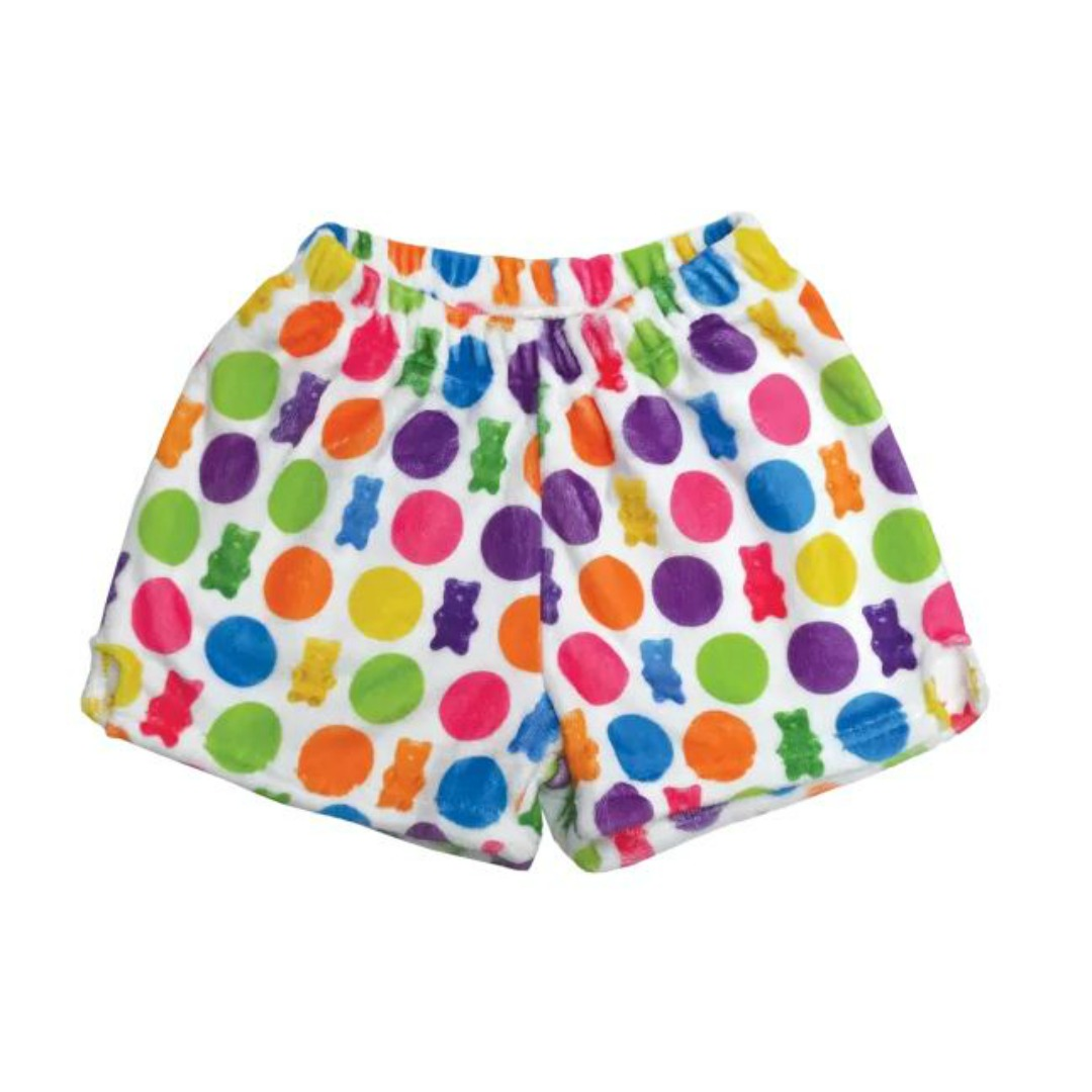 POLKA DOT GUMMY BEAR PLUSH SHORTS