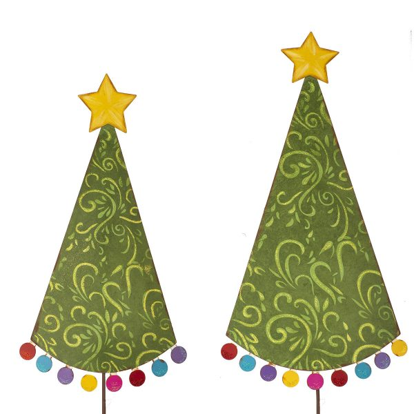 POM POM CHRISTMAS TREE STAKES