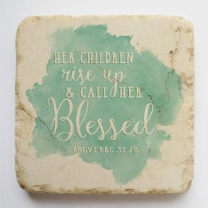 PROVERBS 31:28 SMALL STONE BLOCK
