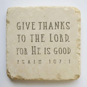 PSALM 107:1 LARGE STONE BLOCK
