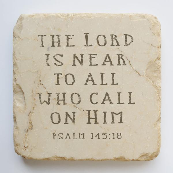 PSALM 145:18 SMALL STONE BLOCK