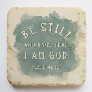 PSALM 46:10 SMALL STONE BLOCK