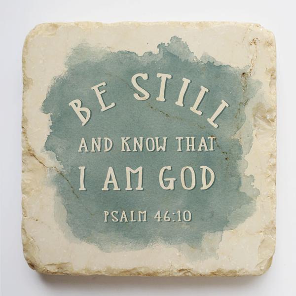 PSALM 46:10 SMALL STONE BLOCK