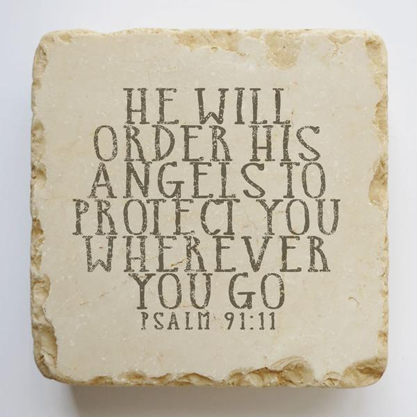 PSALM 91:11 SMALL AND QUARTER STONE BLCOK