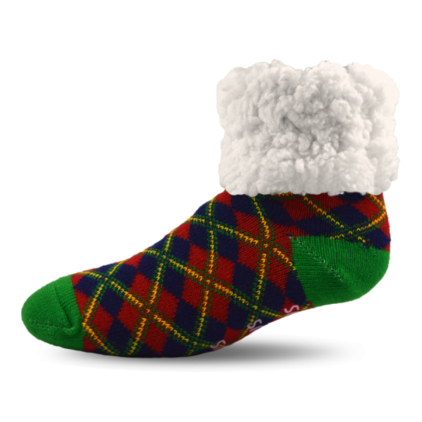 PUDUS CHRISTMAS PLAID SOCKS