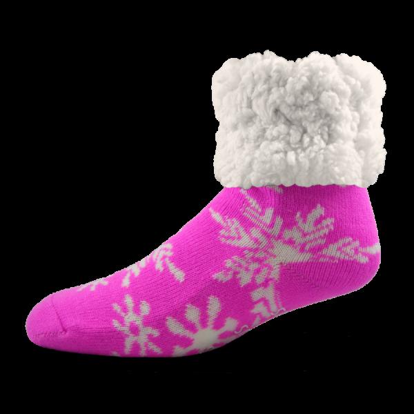 PUDUS SNOWFLAKE PINK SOCKS