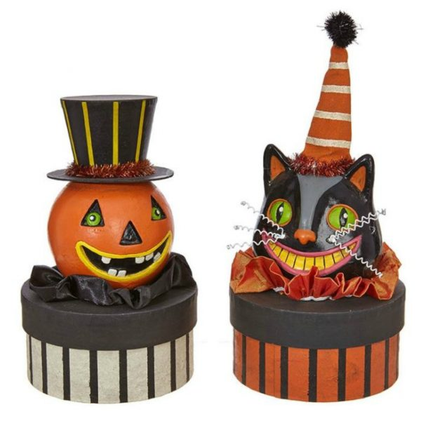 PUMPKIN & CAT ON HAT BOX