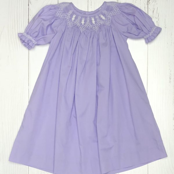 PURPLE SMOKED DRESS