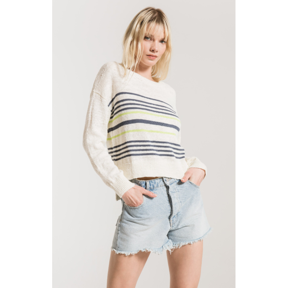 RAG POETS AVELINO STRIPED SWEATER