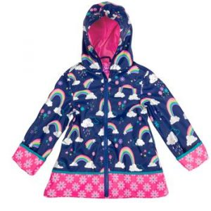 STEPHEN JOSEPH RAINBOW RAIN COAT